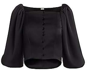 Cult Gaia Women's Petra Puff-Sleeve Corset Top