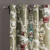 """MICHELE HOME FASHION 25 Sizes Available (Set of 1 panel) (72""""W x 102""""L) Contemporary Print Color Painting Style Carved Design Vase Blackout Lining Window Treatment Draperies & Curtains Panels"""