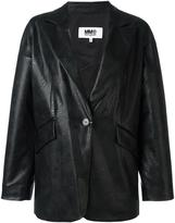 MM6 MAISON MARGIELA leather effect boxy blazer - women - Polyurethane/Viscose - 40