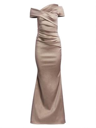 Talbot Runhof Gazar One-Shoulder Mermaid Gown