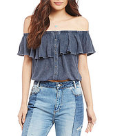 Free People Love Letter Off-the-Shoulder Blouse