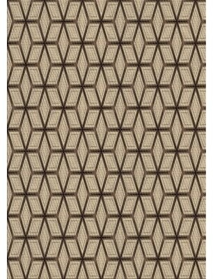 East Urban Home Patterned Brown/Beige Area Rug Rug Size: Rectangle 5' x 7'