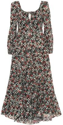 Rixo Cameron printed cotton maxi dress