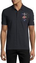 Valentino Tattoo-Embroidered Polo Shirt