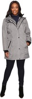 Jessica Simpson Plus Size Softshell with Bib and Faux Fur Collar