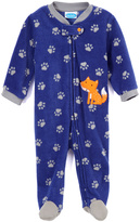 Bon Bebe Blue Paw Print Fox Footie - Infant