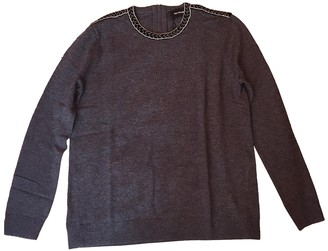 The Kooples Anthracite Wool Knitwear for Women