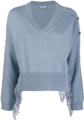 Liu Jo cropped v-neck jumper