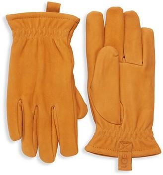 UGG Faux Fur-Lined Suede Gloves