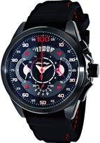 Adee Kaye Men's Wheel 50.68mm Silicone Band Quartz Watch Ak8900-Mipb