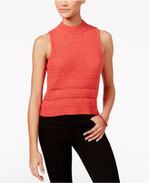 Jessica Simpson Mixed-Knit Sleeveless Sweater