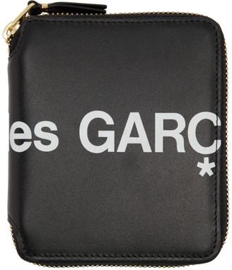 Comme des Garçons Wallets Black Huge Logo Zip-Around Wallet