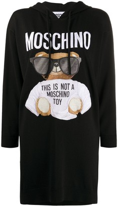 Moschino Teddy Print Hoodie Dress
