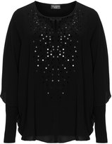 Via Appia Plus Size Double-layered sequin detail tunic