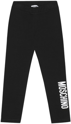 MOSCHINO BAMBINO Logo stretch-cotton leggings
