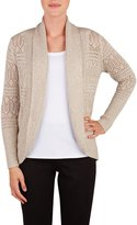 Nygard Women's Petite Alia Cocoon Cardigan with Open Stitch