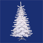 Asstd National Brand 12' Pre-Lit Crystal White Artificial Christmas Tree with Clear Lights