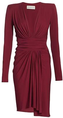 Alexandre Vauthier Ruched Stretch-Jersey Long-Sleeve Dress
