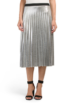 Juniors Made In USA Foil Metallic Skirt