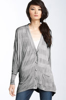 Shadow Stripe Dolman Sleeve Cardigan