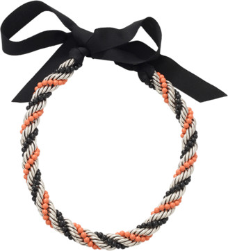 Lanvin Virna Twisted Bead Necklace