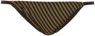 Solid & Striped Morgan Striped Bikini Briefs - Green Stripe