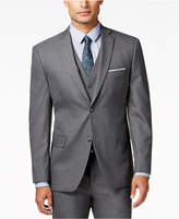 Alfani Traveler Men's Grey Solid Slim-Fit Suit Jacket, Created for Macy's