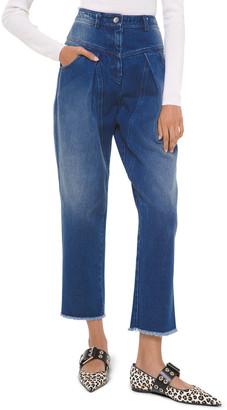 Michael Kors Pleated Straight-Leg Jeans