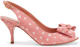 RED Valentino Bow-embellished polka-dot patent-leather sandals
