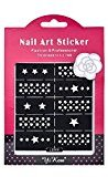 Sannysis DIY Nail Art Template Reusable Stamping Tool Stickers Stamp Stencil Guide Tips (OM04)