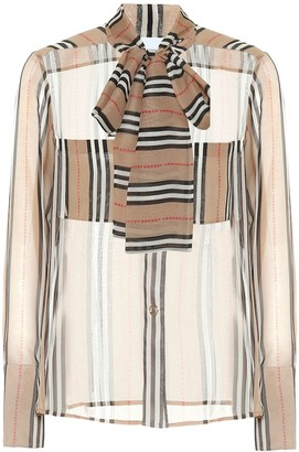 Burberry Amelie striped silk blouse