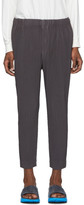 Issey Miyake Homme Plisse Grey Tapered Cropped Trousers