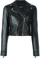 Versus cropped biker jacket - women - Lamb Skin/Polyamide/Spandex/Elastane/Viscose - 44
