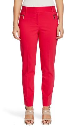 Chaus Dena Zipper Pocket Stretch Cotton Blend Trousers
