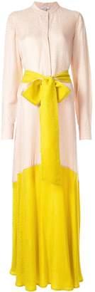 LAYEUR colour-block maxi dress