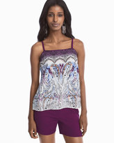 White House Black Market Paisley Printed Cami