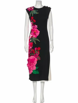 Dolce & Gabbana Silk Long Dress Black