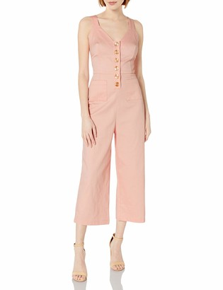 Finders Keepers findersKEEPERS Women's Sleeveless V-Neck Button Front Capri Length Valentina Pantsuit