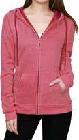 Allegra K Women's Kangaroo Pocket Zip Up Long Sleeves Drawstring Hoodie XL