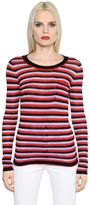 Sonia Rykiel Striped Silk & Cotton Jersey T-Shirt