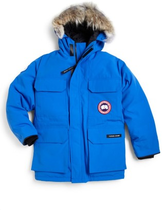 Canada Goose Kid's PBI Expedition Coyote Fur-Trim Down Parka