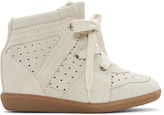 Isabel Marant Off-White Bobby Wedge Sneakers
