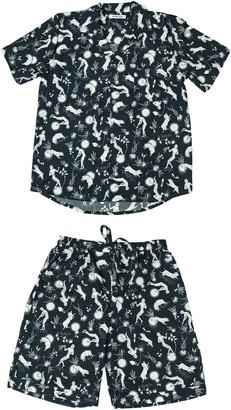 Phriya Women's Navy Blue Odyssey Short Pajama Set