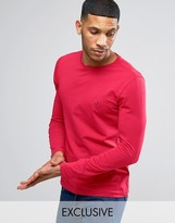Tommy Hilfiger Long Sleeve Top Flag Logo in Red Exclusive to ASOS