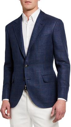 Brunello Cucinelli Men's Plaid Two-Button Jacket