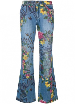 Kenzo Blue Cotton Jeans for Women Vintage