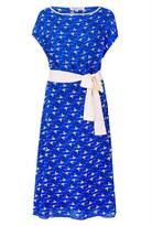 Libelula Cosrob Dress Blue Flying Flamingo Print
