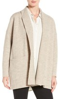 Eileen Fisher Petite Women's Boiled Wool Shawl Collar Jacket