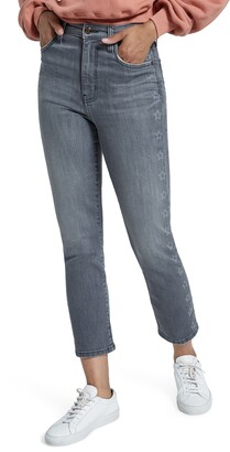 Current/Elliott The Original High Waist Star Stripe Cigarette Jeans