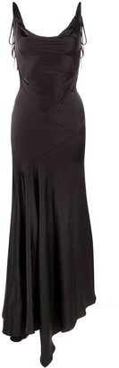 SOLACE London Draped-Detail Gown